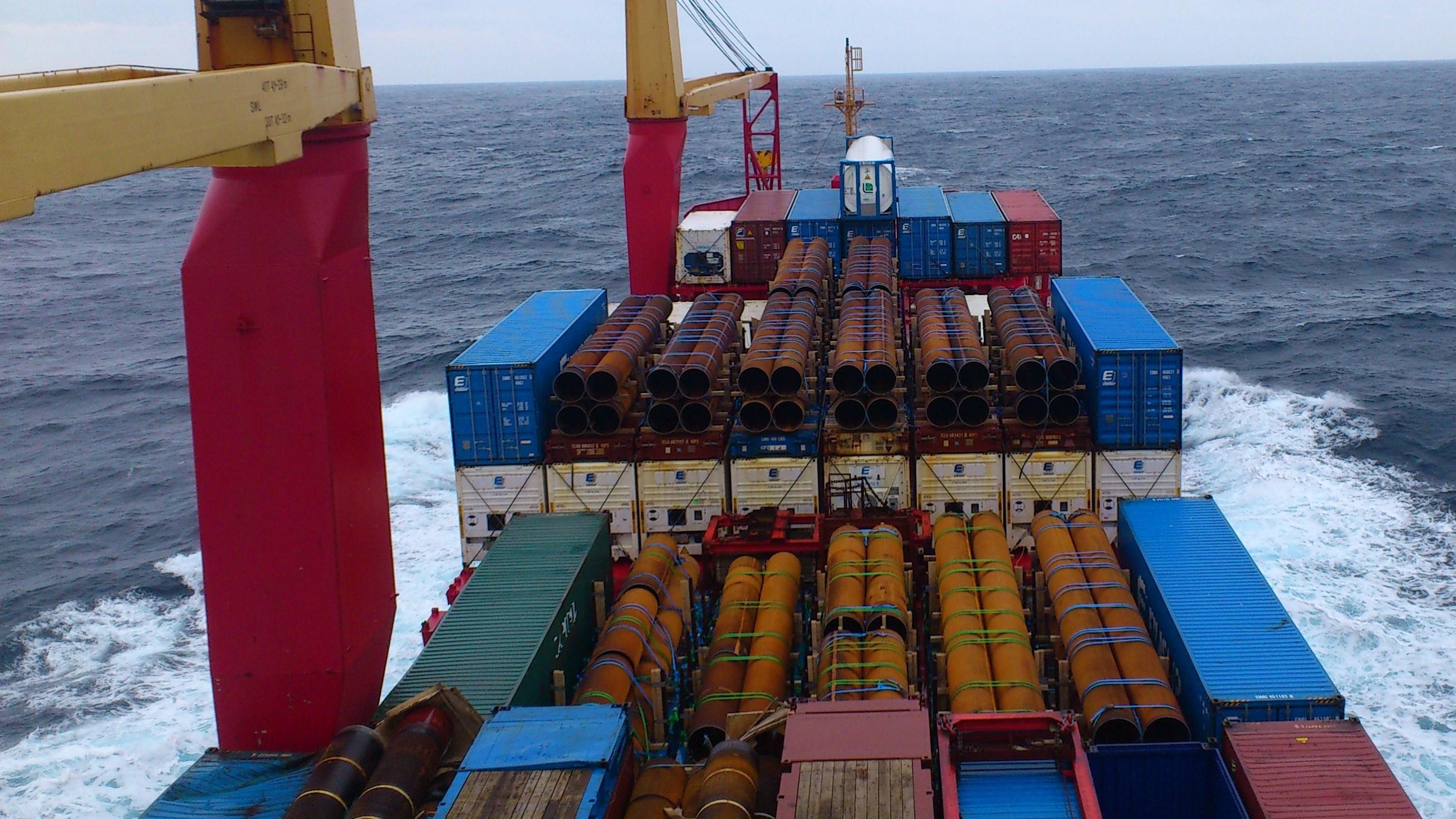 груз на палубе