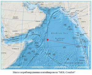 карта Аравийского моря
