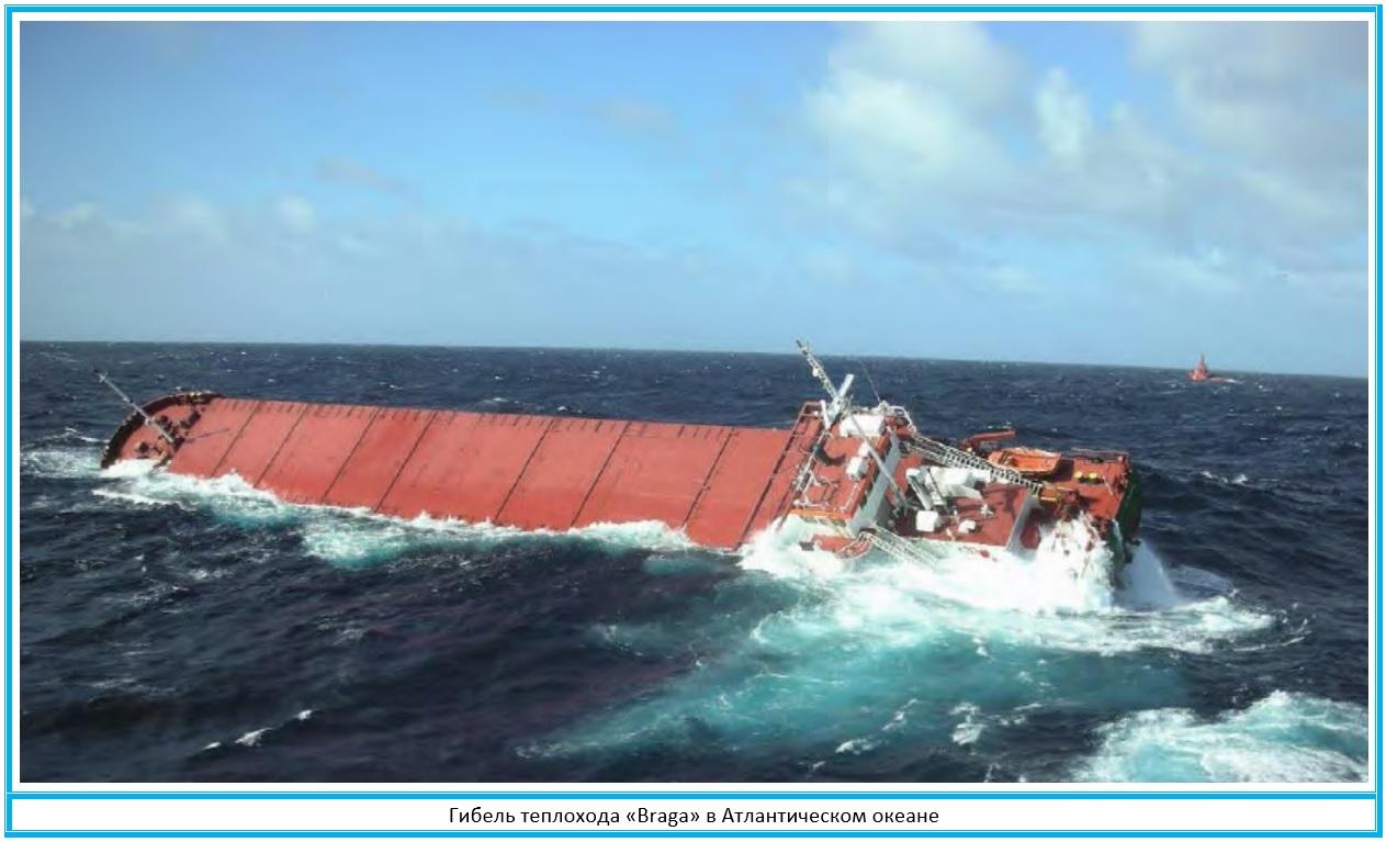 Гибель теплохода Braga в Атлантическом океане