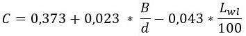 Формула параметра С