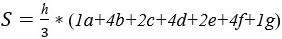 Формула площади до крена 30 градусов через 5 градусов