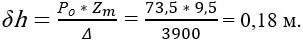 Формула поправки к метацентрической высоте