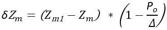 Формула поправки на изменение возвышения метацентра