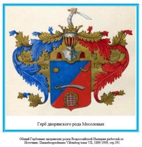 Герб дворян Мосоловых