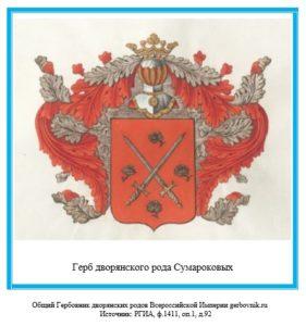 Герб дворян Сумароковых