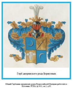 Герб дворян Борисовых.