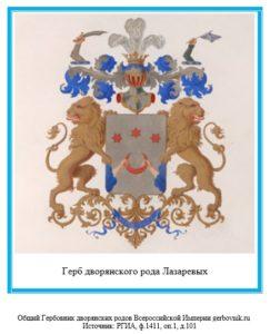 Герб дворян Лазаревых