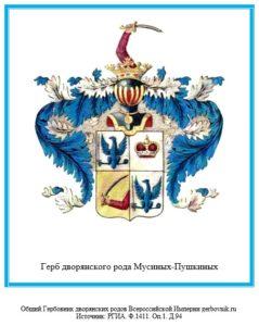 Герб дворян Мусиных-Пушкиных