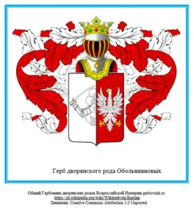 Герб дворян Обольяниновых