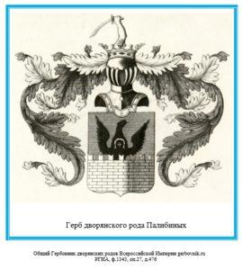 Герб дворян Палибиных