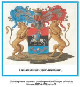 Герб дворян Спиридовых