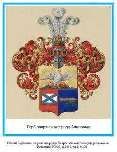 Герб дворян Авиновых