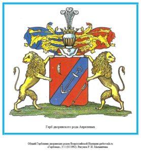 Герб дворян Апрелевых
