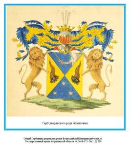 Герб дворян Ахматовых