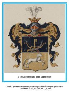 Герб дворян Барановых