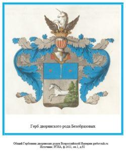 Герб дворян Безобразовых