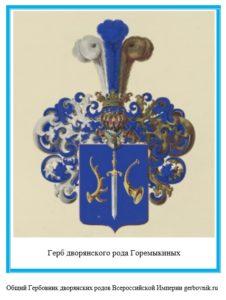 Герб дворян Горемыкиных
