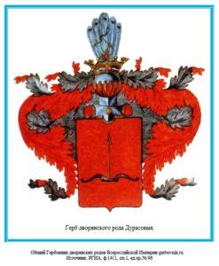 Герб дворян Дурасовых