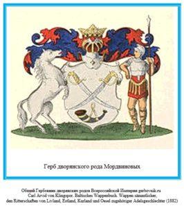 Герб дворян Мордвиновых