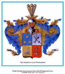 Герб дворян Шишмаревых