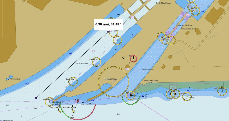 Карта подходного канала