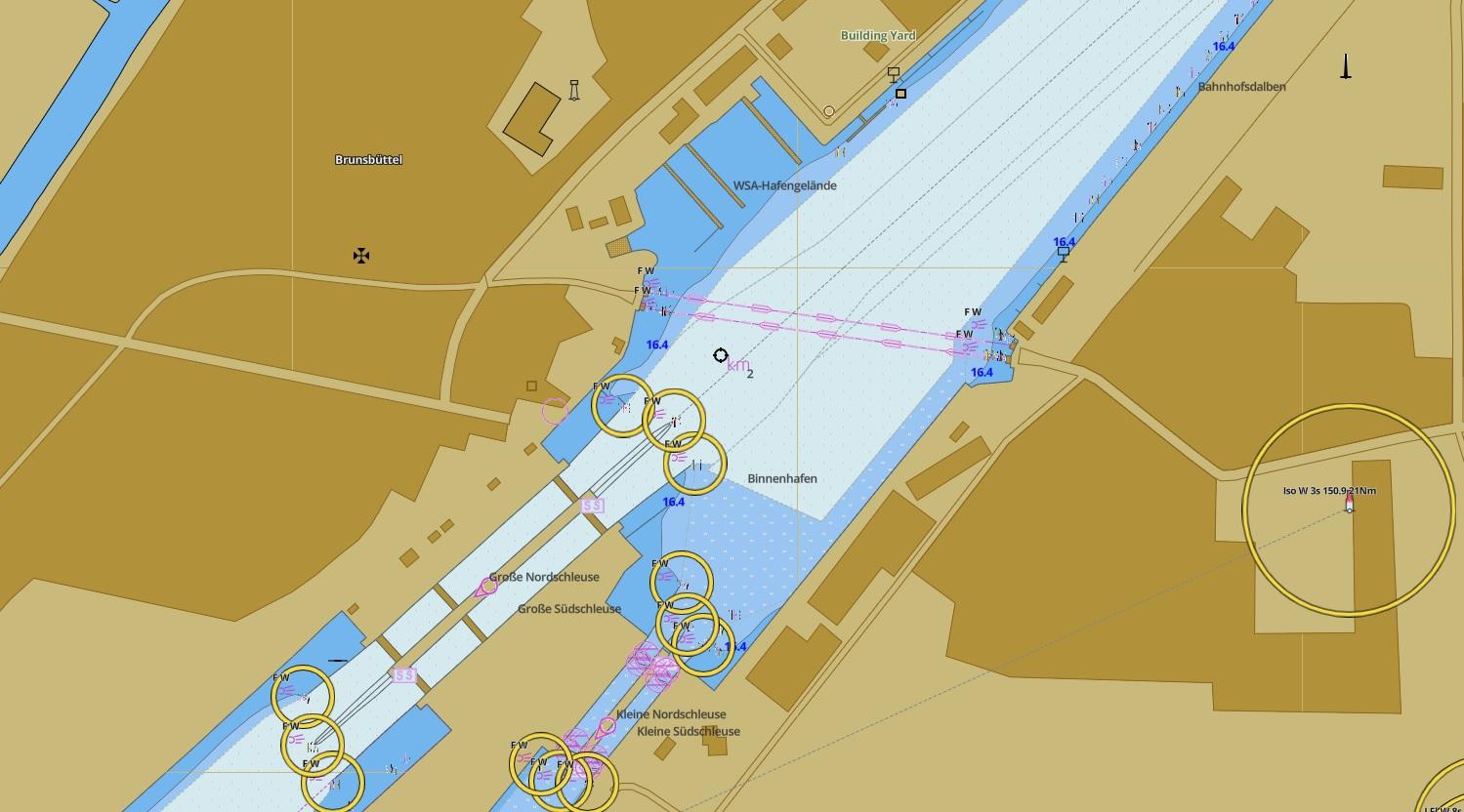 Карта шлюза Брюнсбюттель