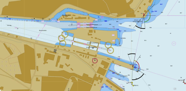 Карта шлюза Хольтенау