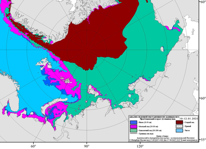 Карта ледовой обстановки